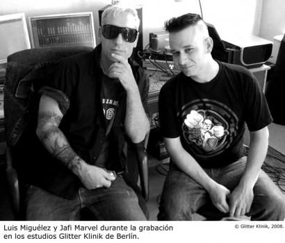 Jafi Marvel y Luis MIguélez © Glitter Klinik, 2008.