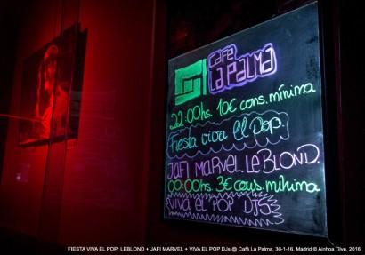 Fiesta Viva El Pop @ Café La Palma, Madrid, 30-01-16 © Ainhoa Tilve, 2016.